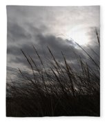 Tall Grass And The Blues Fleece Blanket