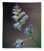 Tall Grass Stem Close-up Fleece Blanket