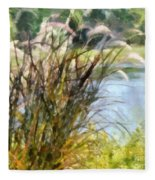 Tall Grasses Fleece Blanket
