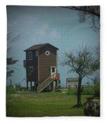 Tall Little Stilt House, Fleece Blanket
