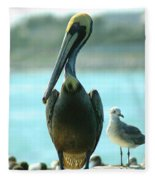 Tall Pelican Fleece Blanket