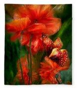 Tall Poppies Fleece Blanket