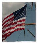 Tall Ship Flag I Fleece Blanket