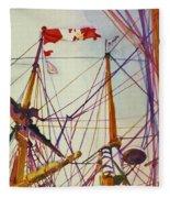 Tall Ship Lines Fleece Blanket