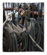 Tall Ship Lines V Fleece Blanket