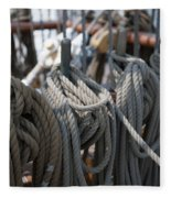 Tall Ship Lines Vi Fleece Blanket