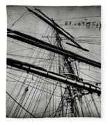 Tall Ship Mast V3 Fleece Blanket