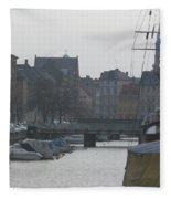 Tall Ship Of Copenhagen Fleece Blanket