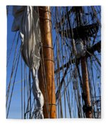 Tall Ship Rigging Lady Washington Fleece Blanket
