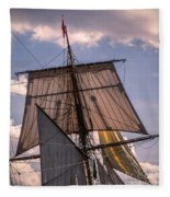 Tall Ship Sails 6 Fleece Blanket