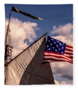 Tall Ship Sails 8 Fleece Blanket