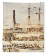 Tall Ship Fleece Blanket