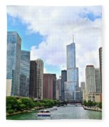 Tall Towers In Chicago Fleece Blanket