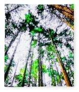 Tall Trees To The Sky Fleece Blanket