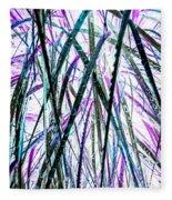 Tall Wet Grass Fleece Blanket