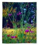 Tall Wisphy Flowers Of Pink Fleece Blanket