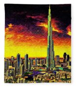 Tallest Building In The World Fleece Blanket