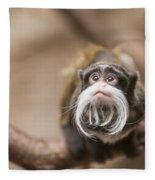 Tamarin Monkey 1 Fleece Blanket