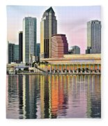 Tampa Bay Alive With Color Fleece Blanket