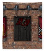 Tampa Bay Buccaneers Brick Wall Fleece Blanket