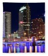 Tampa Bay Pano Lights Fleece Blanket