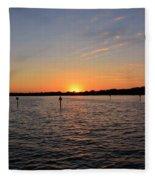 Tampa Bay Sunset Fleece Blanket