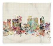 Tampa Florida Fleece Blanket