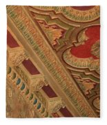 Tampa Theatre Ornate Ceiling Fleece Blanket