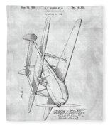 Tandem Biplane Patent Fleece Blanket