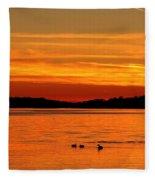 Tangerine Dream Fleece Blanket