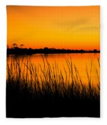 Tangerine Sunset Fleece Blanket