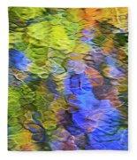 Tangerine Twist Mosaic Abstract Art Fleece Blanket
