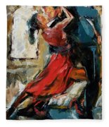 Tango By The Window Fleece Blanket