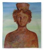 Tanit Mythical Godess Of Ibiza  Fleece Blanket