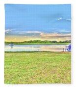 Tank Fishing - Karnes City, Tx Fleece Blanket