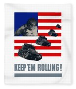 Tanks -- Keep 'em Rolling Fleece Blanket