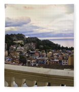 Taormina Balcony View 2 Fleece Blanket