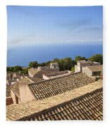 Taormina Rooftops Fleece Blanket