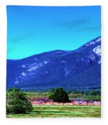 Taos Mountains Fleece Blanket