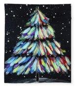 Tapes-tree Fleece Blanket