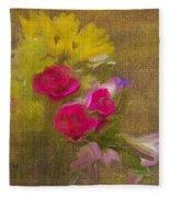 Tapestry Bouquet Fleece Blanket