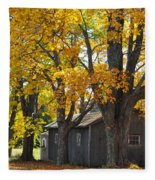 Tar Paper Shack Fleece Blanket