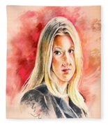 Tara Summers In Boston Legal Fleece Blanket