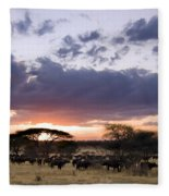 Tarangire Sunset Fleece Blanket