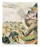 Tariff Lobbyist, 1897 Fleece Blanket