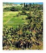 Taro Fields Fleece Blanket