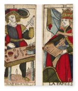 Tarot Cards, C1700 Fleece Blanket