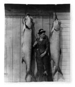 Tarpon Fishing 19th Century  Fleece Blanket