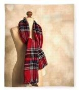Tartan Scarf Fleece Blanket
