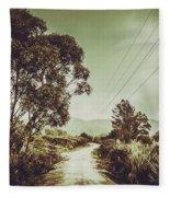 Tasmania Country Roads Fleece Blanket